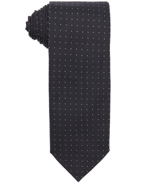 Dot Printed Silk Tie by Prada in Arrow - Season 4 Episode 5