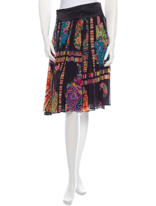 Silk Printed Skirt by Etro in While We're Young