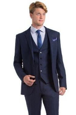 Luxury Indigo Herringbone Three-piece Suit by Indochino in Anchorman 2: The Legend Continues