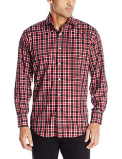 Men's Checked Button-Front Shirt by Thomas Dean  in Chelsea