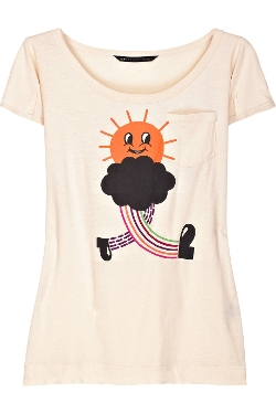 Wandering Sun Cotton T-Shirt by Marc By Marc Jacobs in Thor
