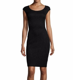 Allure Knit Cap-Sleeve Sheath Dress by St. John Collection in How To Get Away With Murder