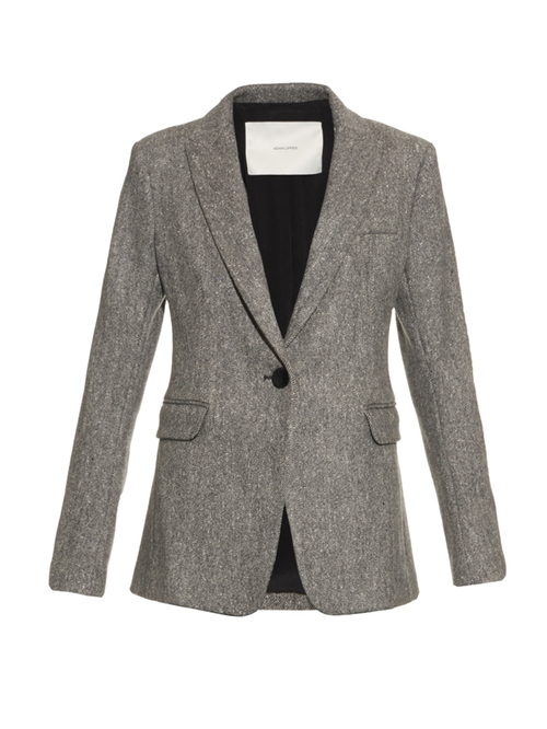 Notch Lapel Wool Blend Blazer by Adam Lippes in Keeping Up With The Kardashians - Season 11 Episode 11