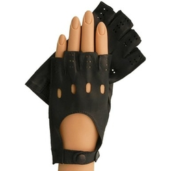 Italian Leather Half-finger Driving Gloves by Solo Classe in Jem and the Holograms