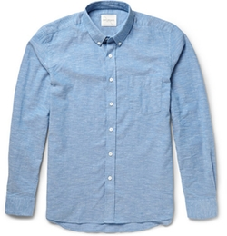 Crosby Button-Down Cotton Oxford Shirt by Saturdays Surf NYC in Bridge of Spies