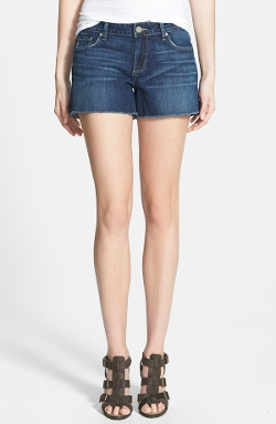 'Bobbi' Frayed Denim Cutoff Shorts by Paige Denim in Dope
