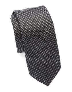 Silk Textured Diamond Tie by Hugo Boss in Suits