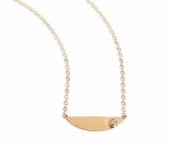 Half Circle Gold And Diamond Necklace by Melissa Joy Manning in Gypsy