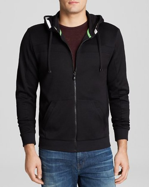 Slouchy Hooded Jacket by Hugo Boss in Drive