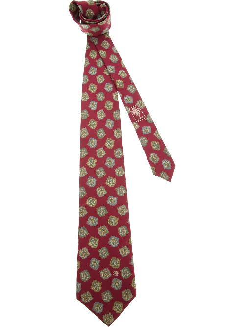 'Middle Ages' printed tie by GUCCI VINTAGE in The Wolf of Wall Street