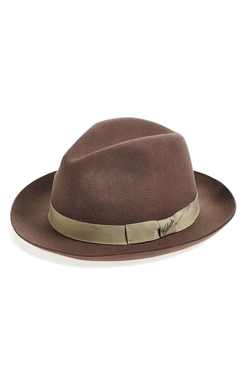 Water Repellent Wool Felt Fedora Hat by Woolrich in Bridge of Spies
