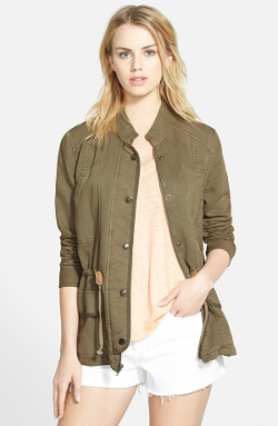 Drapey Military Jacket by Hinge in Barely Lethal