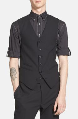 Classic Button-front Suiting Vest by John Varvatos Star USA in Anchorman 2: The Legend Continues