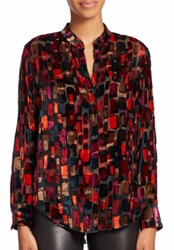 Eloise Printed Blouse by Alice + Olivia in Arrow
