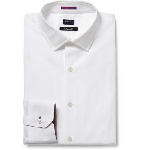 WHITE SLIM-FIT COTTON SHIRT by PAUL SMITH LONDON in Vampire Academy