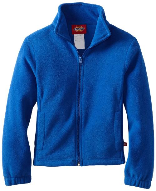 Girl's Polar Fleece Zip Jacket by Dickies in Blended