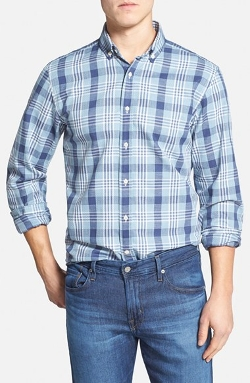 Constance Regular Fit Print Sport Shirt by Haspel in Entourage