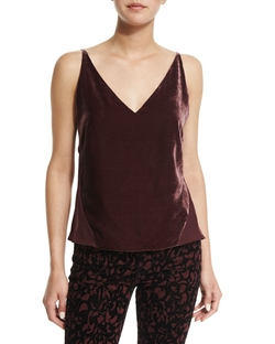 Lucy Velvet Front Camisole Top by J Brand in Modern Family