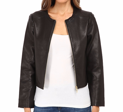 Zip-Up Leather Jacket by Kate Spade New York in Unbreakable Kimmy Schmidt - Season 2 Episode 5
