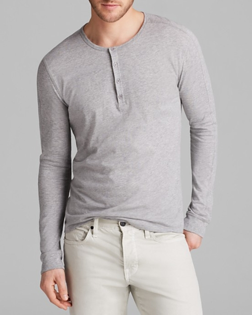 Favorite Jersey Long Sleeve Henley by Vince in Krampus