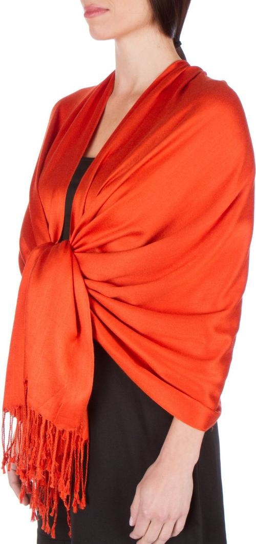 Silky Soft Solid Pashmina Shawl by Sakkas in Laggies