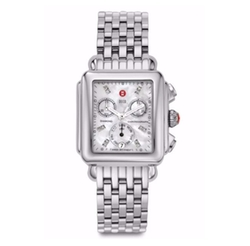Stainless Steel Chronograph Bracelet Watch by Michele Watches in Billions