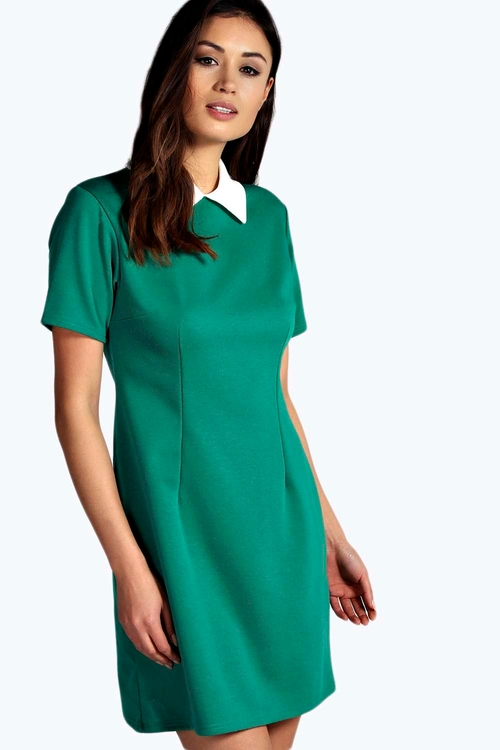 Robin Contrast Collar Dress by Boohoo in The Finest Hours