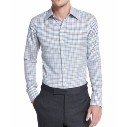 Tattersall Check Dress Shirt by Tom Ford  in Jane the Virgin