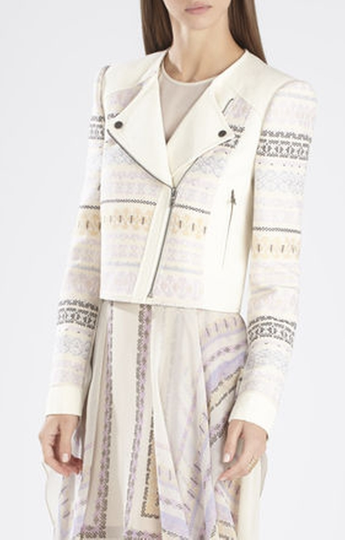 Cody Textured Yarn Jacket by BCBGMAXAZRIA in Pretty Little Liars - Season 6 Episode 4