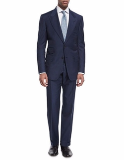 Windsor Base Micro-Pinpoint Suit by Tom Ford in Suits
