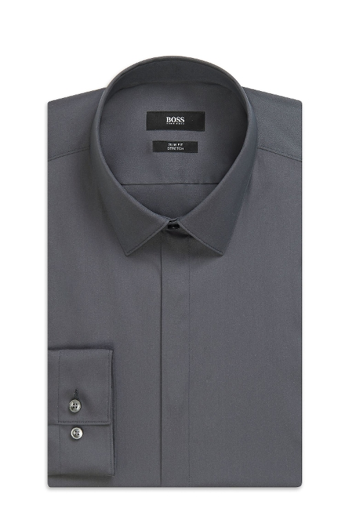'Henri' Slim Fit Point Collar Dress Shirt by Boss Hugo Boss in The Longest Ride