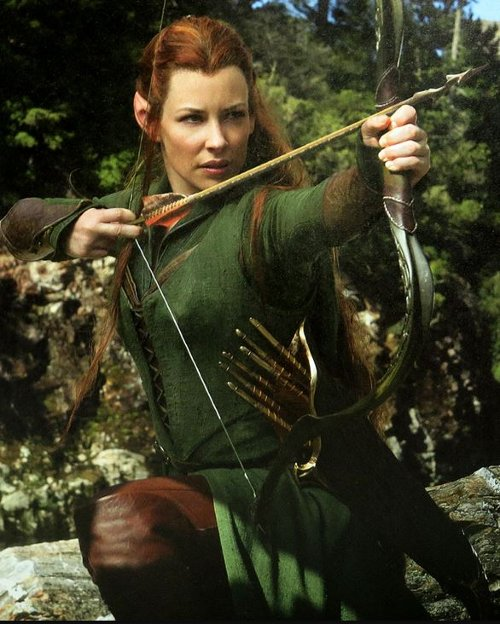 Custom Made Tauriel Costume by Lesley Burkes Harding (Costume Designer) in The Hobbit: The Battle of The Five Armies