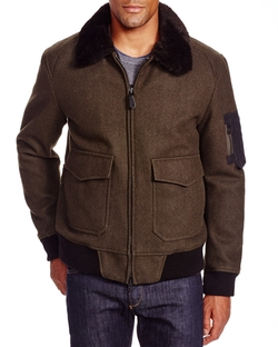 Fur Collar Bomber Jacket by Spiewak in Brooklyn