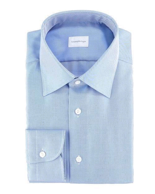 Diagonal Twill Dress Shirt by ERMENEGILDO ZEGNA in Million Dollar Arm