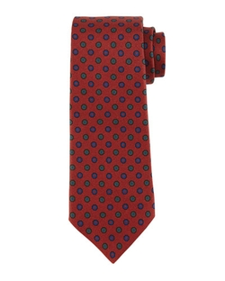 Micro-Flower Neat Silk Tie by Kiton in The Good Wife