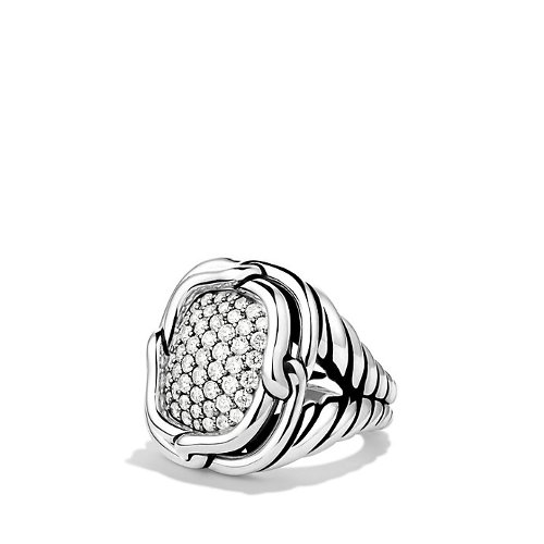 Labyrinth Large Ring by David Yurman in The Counselor