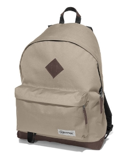 Wyoming Beige Backpack with Leather Trim by Eastpak in Paper Towns
