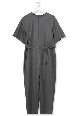 Wool Judo Jumpsuit by Topshop in Black-ish