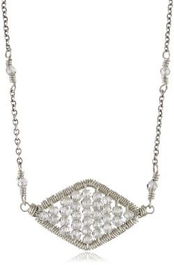 Elegant Art Deco Diamond-Shaped Pendant Necklace by Dana Kellin in Silver Linings Playbook