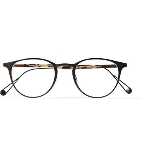 OXFORD ROUND-FRAME TITANIUM AND ACETATE OPTICAL GLASSES by GARRETT LEIGHT CALIFORNIA OPTICAL in Transformers: Age of Extinction