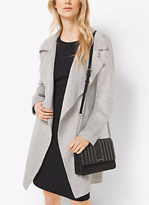 Belted Double-Face Wool Wrap Coat by Michael Kors in Fantastic Beasts and Where to Find Them
