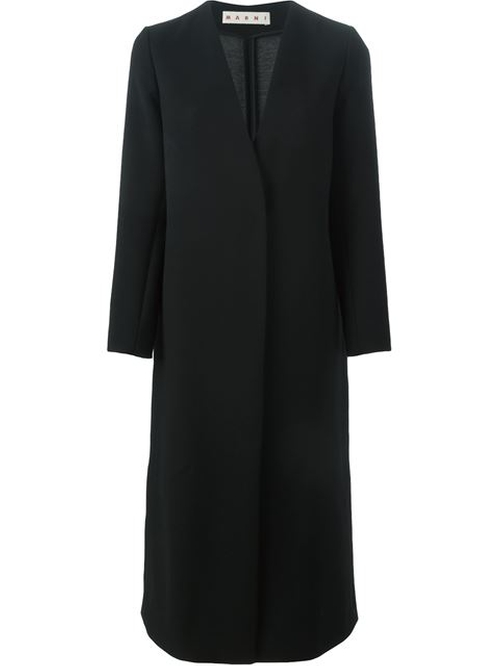 V-Neck Long Coat by Marni in Keeping Up With The Kardashians - Season 11 Episode 13