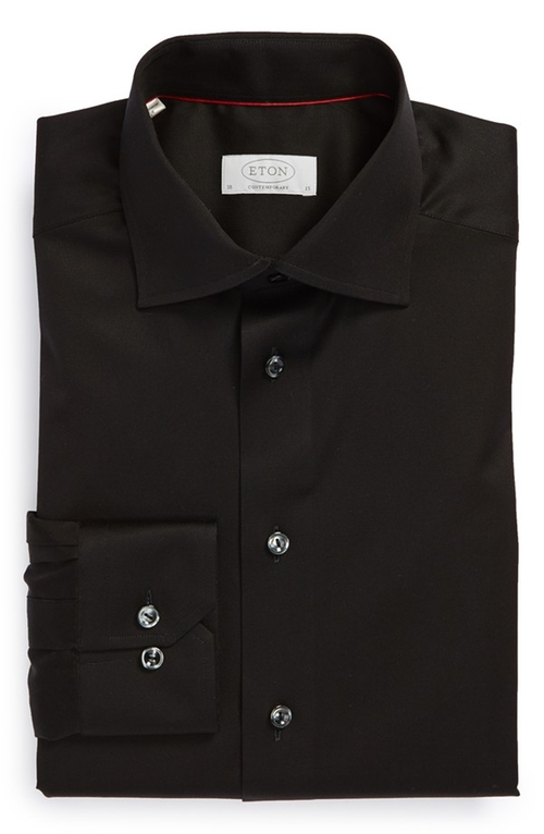 Contemporary Fit Solid Dress Shirt by Eton in Sex and the City