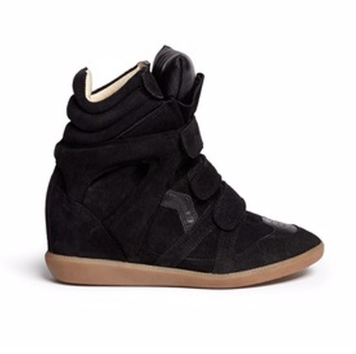 Bekett Suede High Top Wedge Sneakers by Isabel Marant Étoile  in Keeping Up With The Kardashians - Season 12 Episode 6