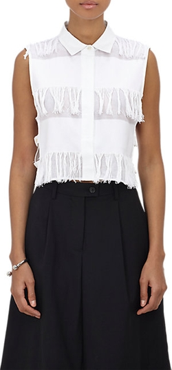 Fringe Sleeveless Shirt by Sea in Scream Queens