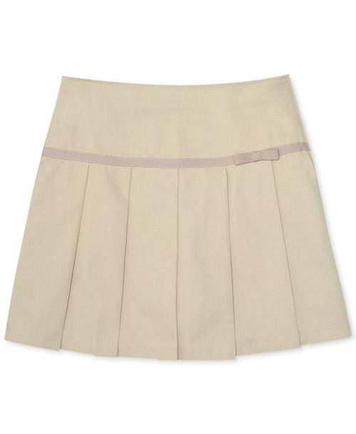 Little Girls' Uniform Pleated Ribbon Scooter Skirt by French Toast in Addicted