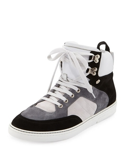 Bradley Colorblock High-Top Sneakers by Jimmy Choo in Empire