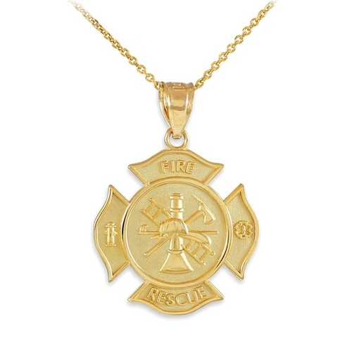 Rescue Firefighter Pendant Necklace by American Heroes in GoldenEye