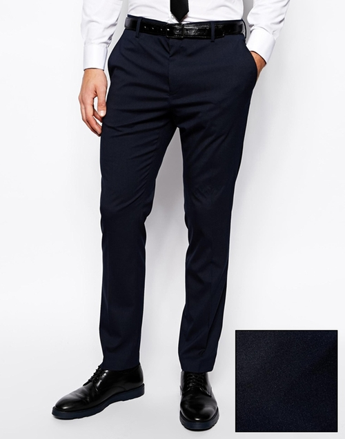 Slim Fit Tuxedo Suit Pants by Asos in The Man from U.N.C.L.E.