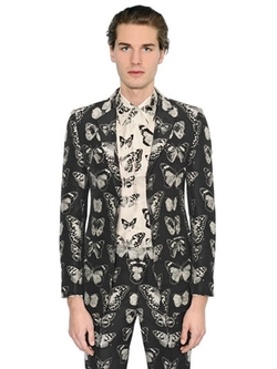 Butterfly Wool Blend Jacquard Jacket by Alexander McQueen in Why Him?